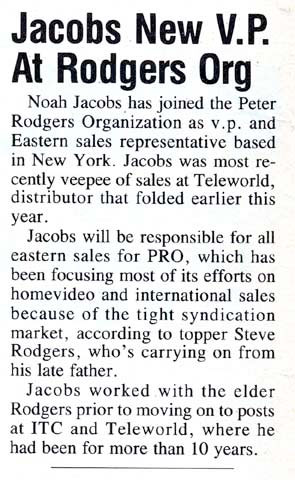 Jacobs New VP At Rodgers Org